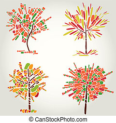 Decorative tree from mosaic. Thanks