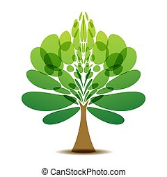 Decorative tree logo