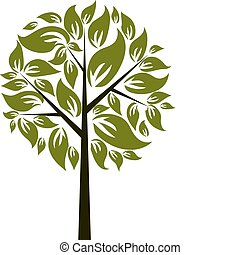Decorative tree, vector