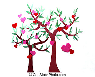 Decorative tree with heart