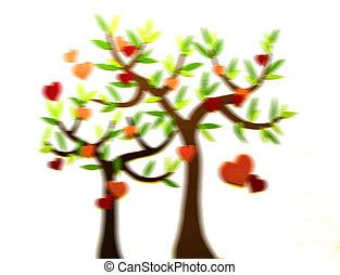 Decorative tree with heart