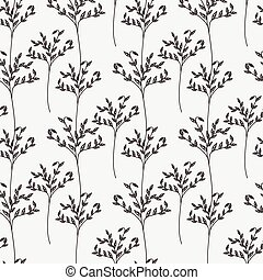 Decorative trees seamless pattern. Vector illustration for design of gift packs, wrap, patterns fabric.