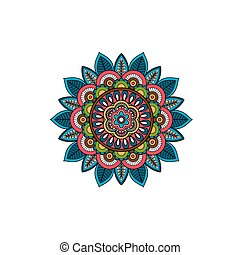 Decorative tribal mandala ornament rosette