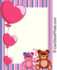 Decorative Valentine Love Frame or Border with a couple of...