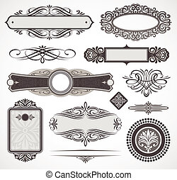 Decorative vector design elements & page decor