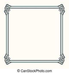 Decorative vector frame