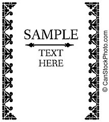 Decorative vector frame