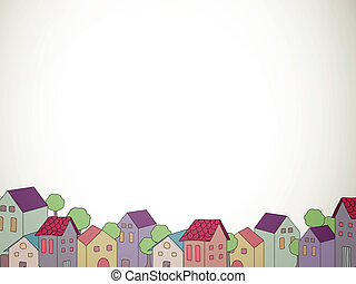 Decorative Vector Houses