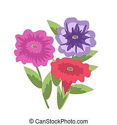 Decorative vector petunias - Decorative vector purple and ...