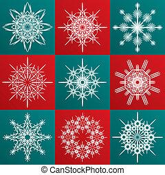 Decorative vector Snowflakes set