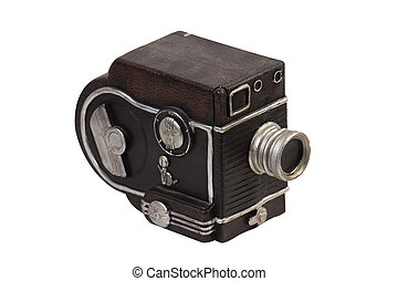 Decorative video camera isolated on white