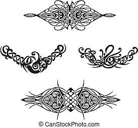 Decorative vignettes. Vector set