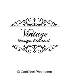 Decorative vintage and classic design element vector illustration eps10