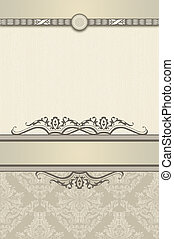 Decorative vintage background for the text.