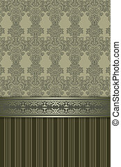 Decorative vintage background with elegant patterns.