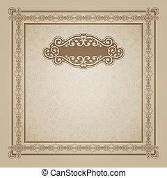 Decorative vintage background with frame.