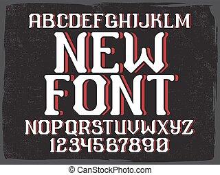 Decorative vintage font