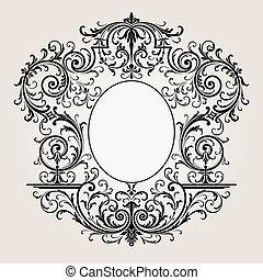 Decorative vintage frame border background