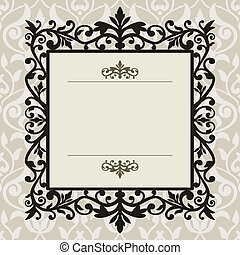 Decorative vintage frame