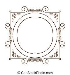 decorative vintage frame icon