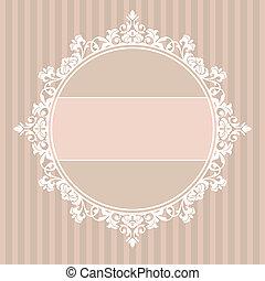 decorative vintage frame - abstract cute decorative vintage...