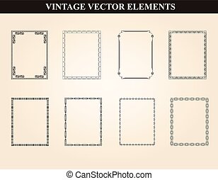 Decorative vintage frames and borde