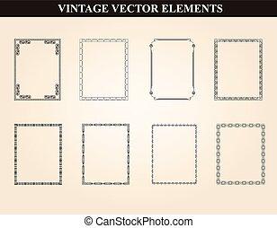 Decorative vintage frames and borde