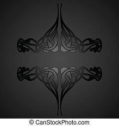Decorative Vintage Ornate Banner. Vector Illustration.