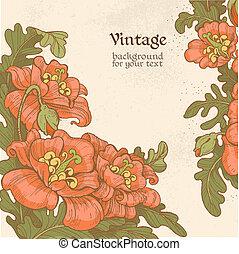 Decorative vintage poppies