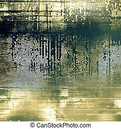 Decorative vintage texture or creative grunge background with different color patterns: yellow (beige); brown; gray; green; black; white