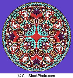 decorative violet colour design of circle