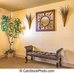 Decorative waiting area inside home