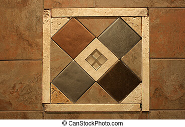 Decorative Wall Tile Inlay
