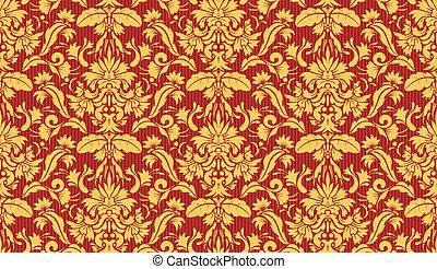 Decorative wallpaper background - Vector illustration of...
