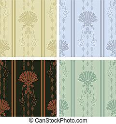 Decorative wallpaper - Classy decorative wallpaper seamless...