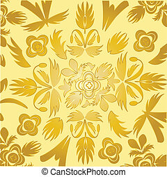 Decorative wallpaper of the gilded colour