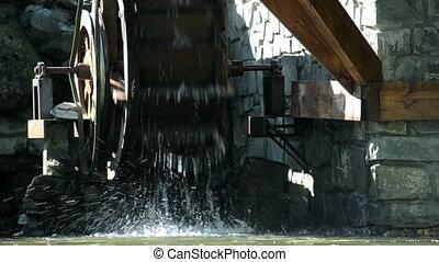 Decorative watermill wheel