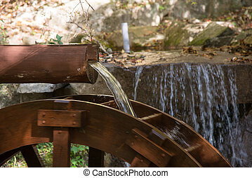 decorative waterwheel - decorative wooden waterwheel with...