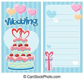 Decorative Wedding Invitation Card