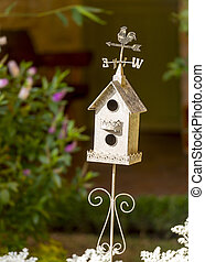 Decorative White Birdhouse
