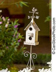 Decorative White Birdhouse
