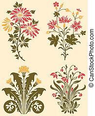 Decorative Wildflowers - A series of fancy ornamental ...