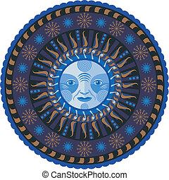 Decorative Winter Mandala - Concentric decorative winter...