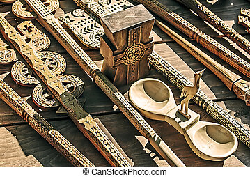 Decorative wooden carved 2