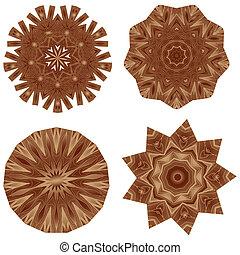 Decorative wooden mosaic parquet table