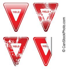 Decorative Yield Signs