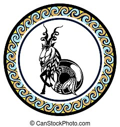 Decorative Zodiac sign Capricornus