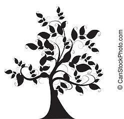 decorativo, árbol