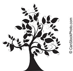 decorativo, árvore