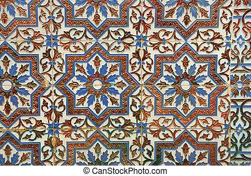 decorativo, abstratos, azulejos